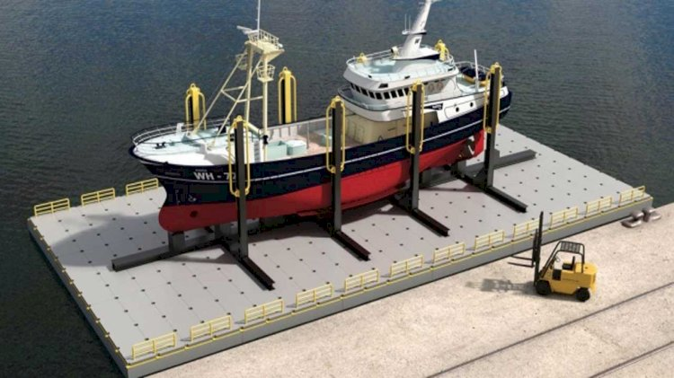 World's first ever road transportable floating dry dock