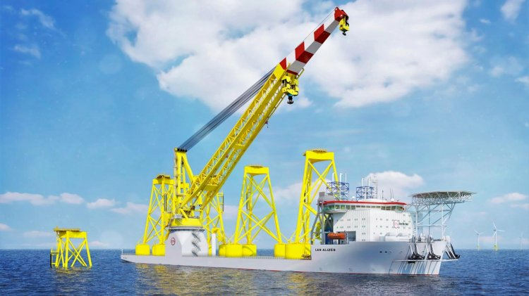 Jan De Nul ordered a heavy lift crane vessel from a Chinese shipyard
