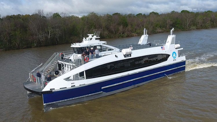 Low emission Incat Crowther ferries delivered to NYC Ferry