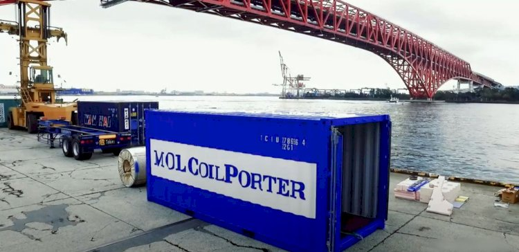 New way to secure steel coils during container transport-along
