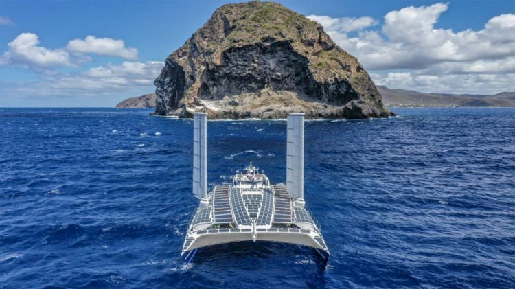 First hydrogen vessel completes its transatlantic passage entirely self-sufficiently