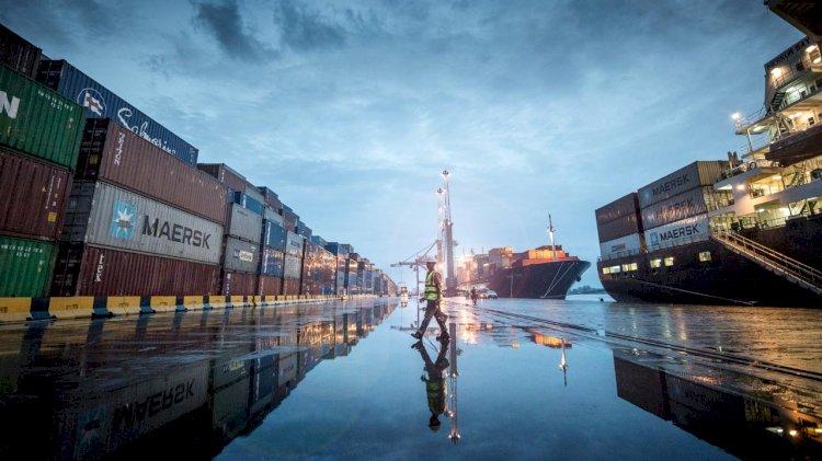 Two new mobile harbor cranes at Apapa Port