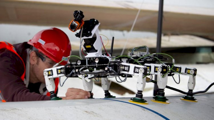 VIDEO: Novel inspect-and-repair robot for offshore wind turbine blades