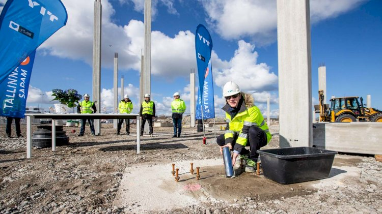The cornerstone of Tallinn's cruise terminal was laid