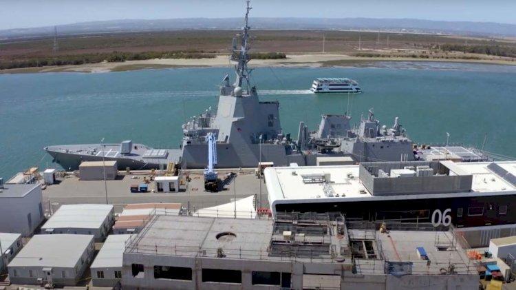 VIDEO: Offshore patrol vessel construction at Osborne Naval Shipyard