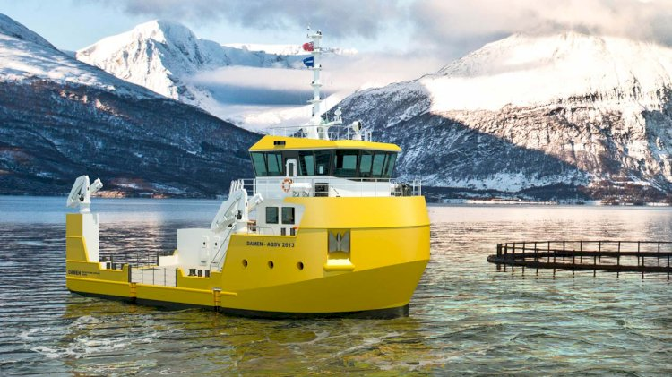 Damen unveils new workboat for the aquaculture industry