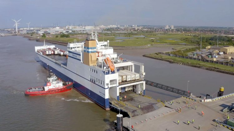 New freight ferry port on the Thames passes dress rehearsal