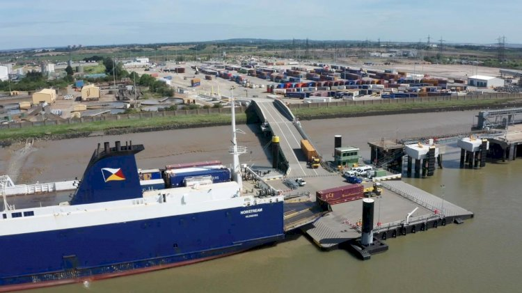New driver-free freight ferry terminal now open for business in Tilbury