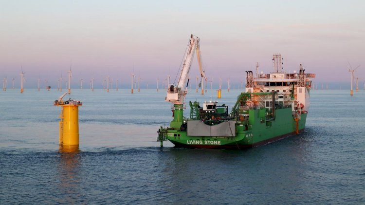 DEME completed the cable laying works at the SeaMade offshore wind farm