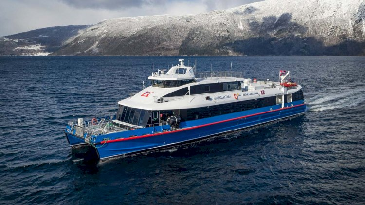 Brødrene Aa delivers high-speed all-electric ferry