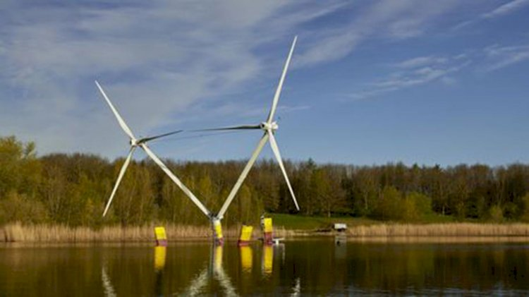 EnBW and aerodyn test model for floating wind turbines for first time in Germany