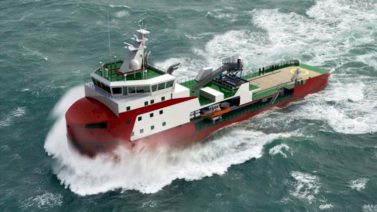New building order world's first shallow draft ice-breaking walk to work vessel