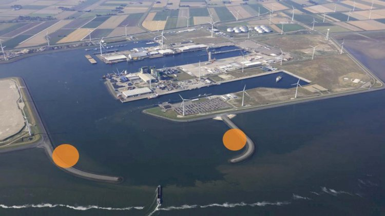 Pondera and Rebel take over the wind project at the breakwaters in the Eemshaven