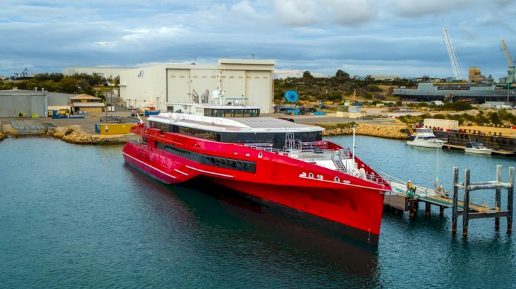 VIDEO: Austal launches the high-speed trimaran ferry Queen Beetle
