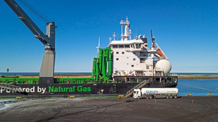 SSAB Raahe's steel plant is testing biogas from Gasum as a maritime transport fuel