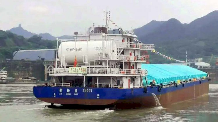 Maiden voyage of China's first hybrid ship