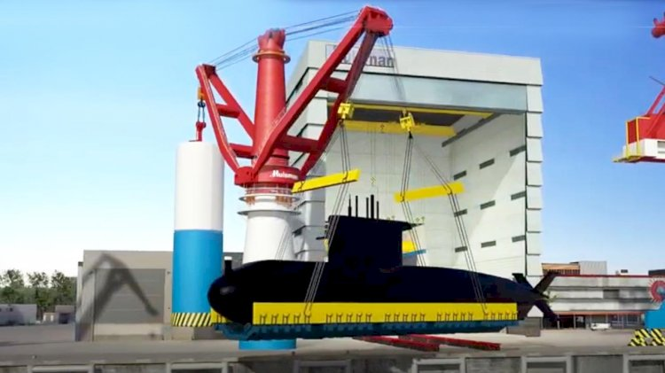Submarine Handling Crane completes Huisman facility for walrus-class submarine replacement