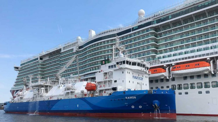 Nauticor conducts first STS LNG bunkering operation for the cruise ship Iona