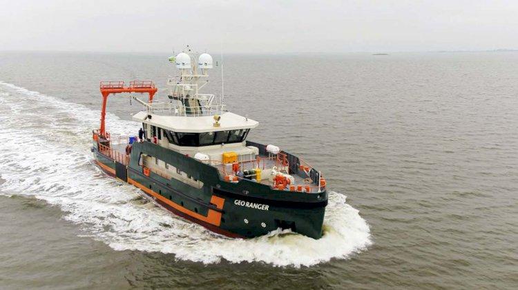 VIDEO: Sea trials hydrogrpahic survey vessel 'Geo Ranger'