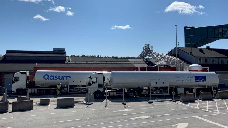 Gasum opened a new shipping fuel station at Ports of Stockholm