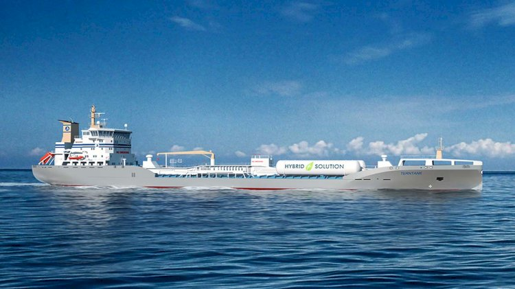 First hybrid LNG-fuelled tanker for Terntank under construction