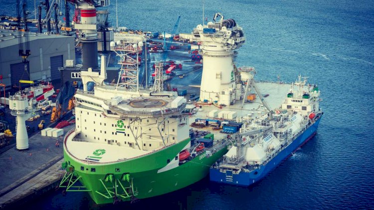 First jacket installed at Moray East, Scotland's largest offshore wind farm
