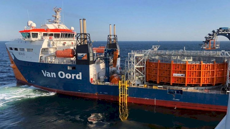 Ørsted and Van Oord installed all array cables of the Borssele I & II offshore wind farm