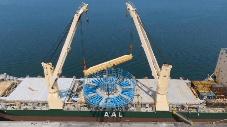 AAL transports giant cable carousel for Taiwan offshore clean energy project