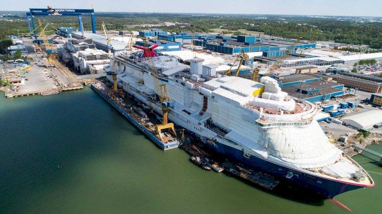 Mardi Gras construction progressing at Finland's Meyer Turku Shipyard