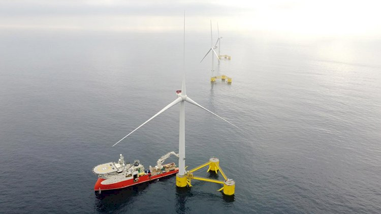 First floating wind farm in continental Europe is now fully operational