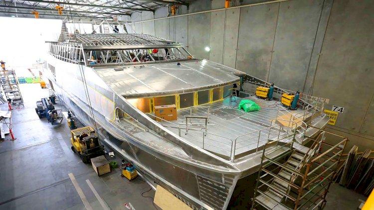World Heritage Cruises' eighth Incat Crowther catamaran under construction
