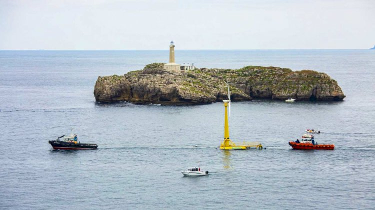 Saitec's first floating wind installation in continental Spain