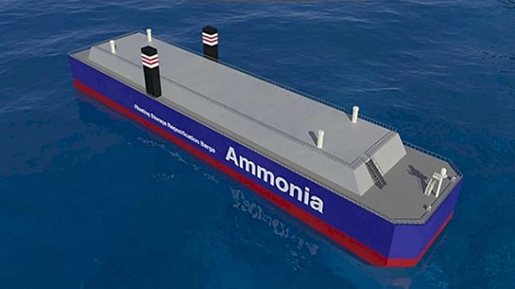 World's first effort to stably supply ammonia fuel to oceangoing vessels