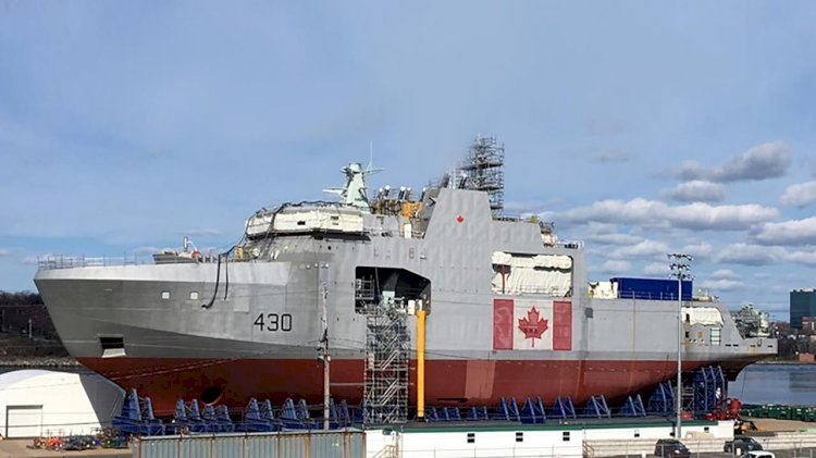 HMCS Harry DeWolf officially delivered to the Royal Canadian Navy