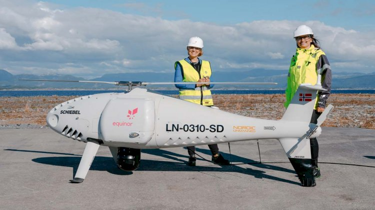 Equinor completes world's first logistics operation with a drone to an offshore installation