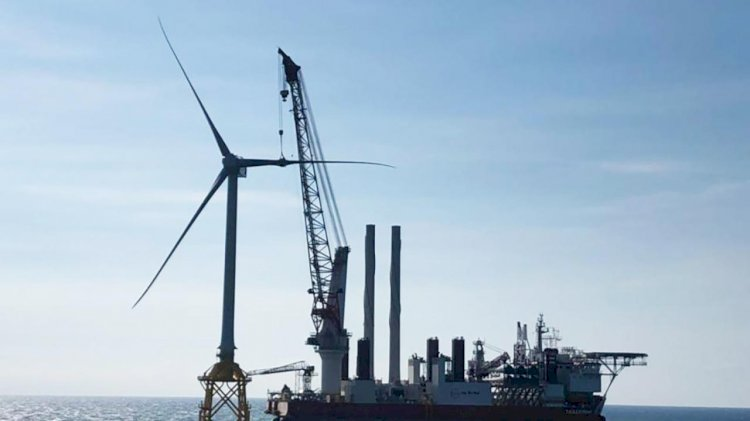 Jan De Nul installed the first offshore wind turbine for TPC offshore wind farm