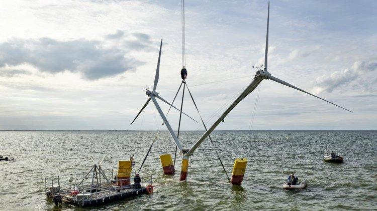 EnBW-aerodyn research project: Nezzy² wind turbine learns to swim in the Baltic Sea
