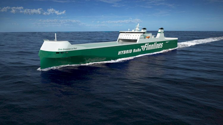 The construction of Finnlines' second new hybrid ro-ro vessel started