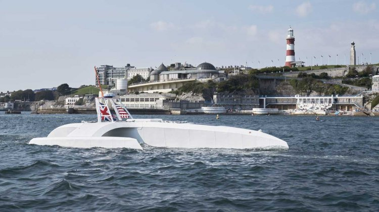 Robot research ship from ProMare and IBM takes to sea