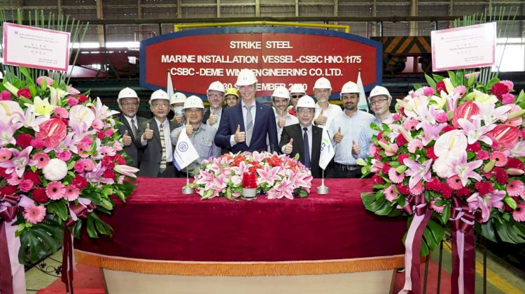 DEME: 'Green Jade' steel cutting gets underway