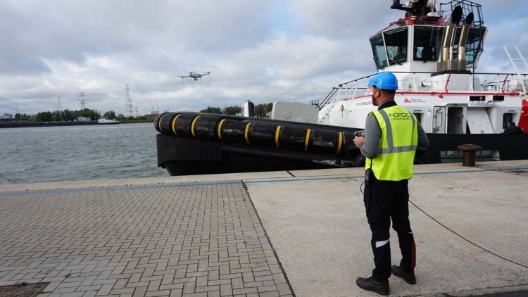 Drones will be used to support control in the Antwerp port area