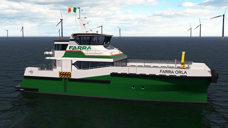Ireland's first catamaran wind farm service craft under construction