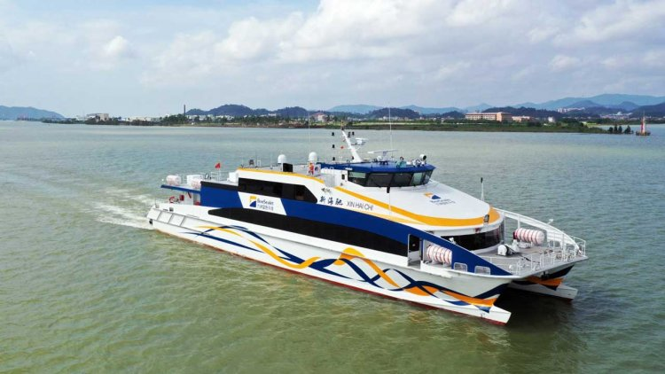 Aulong delivers third high-speed catamaran ferry to Blue Sea Jet in China