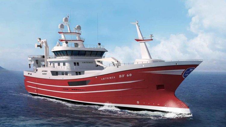 Kongsberg to supply SIMRAD sonar equipment for a new 75m Pelagic trawler Artemis