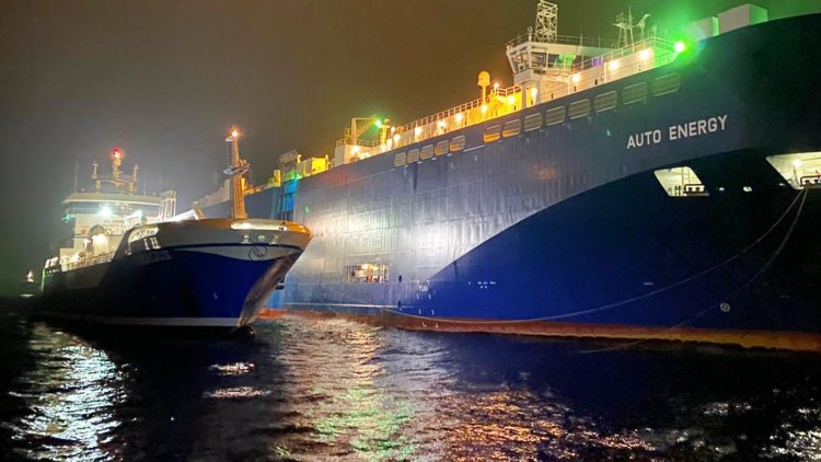 First ship-to-ship LNG -LBG blend bunkering conducted to cargo vessel