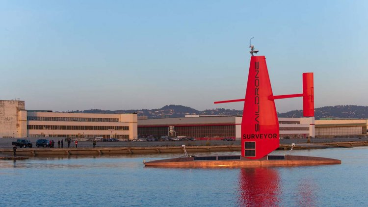 VIDEO: Saildrone Surveyor 72-foot USV launched in California