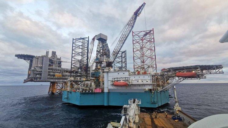 Rowan Viking drilling rig back at the Edvard Grieg field