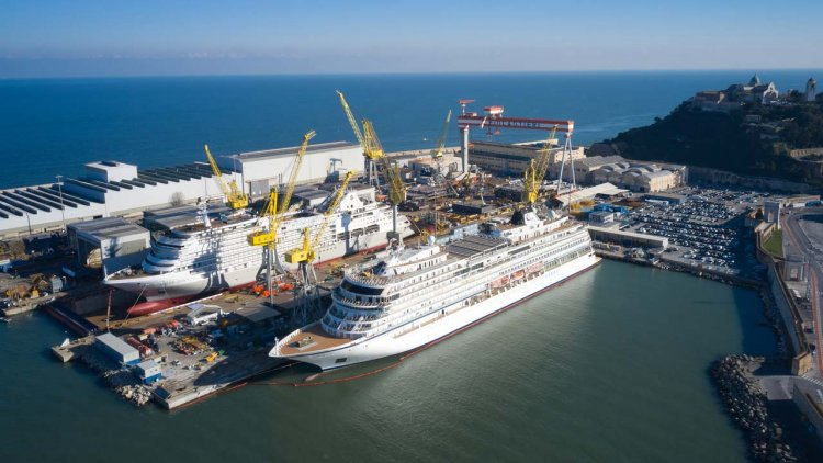New ship Silver Dawn floats out in Ancona