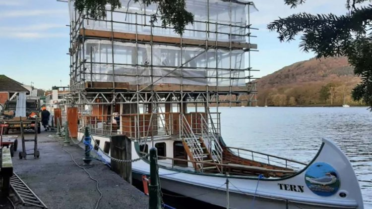Windermere Lake Cruises' oldest vessel given new navigation bridge for 130th birthday year
