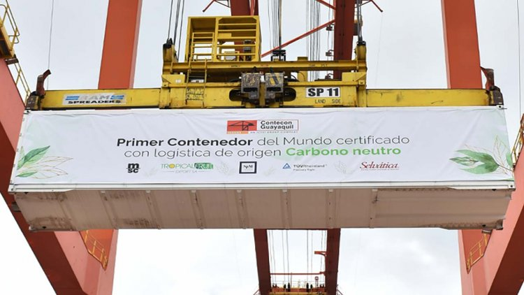 Contecon Guayaquil handles first carbon-neutral container shipment in the world